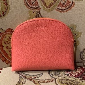 Furla leather zip-top wallet
